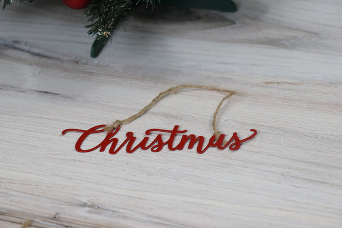Metal Word Charm - Christmas