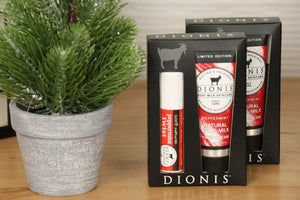 Lip Balm & Hand Cream Gift Set, Peppermint.