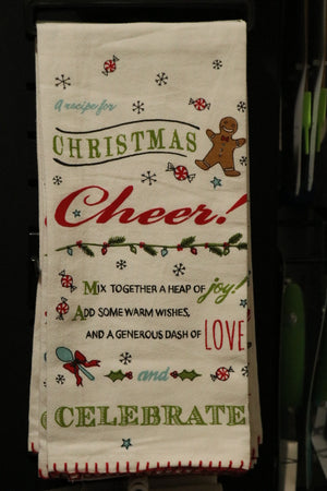 Flour Sack Towel - Christmas Cheer Recipe