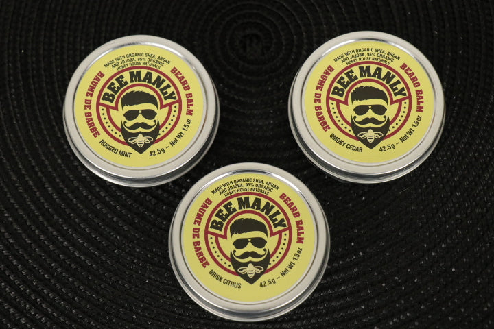 Bee Manly Beard Balm, 4 Fragrances