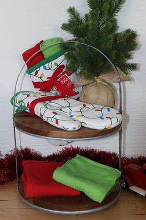 3 Piece Oven Mitt Set - Deck The Halls