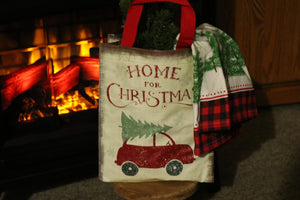 Tote Bag - Home for Christmas Gift Bag (Truck)