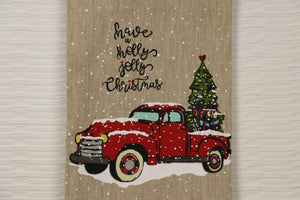 Have a Holly Jolly Chrsitmas - Truck Towel Series