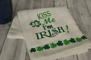 Kiss Me I'm Irish Tea Towel