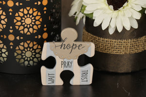 Plaque - Puzzle Piece, Hope