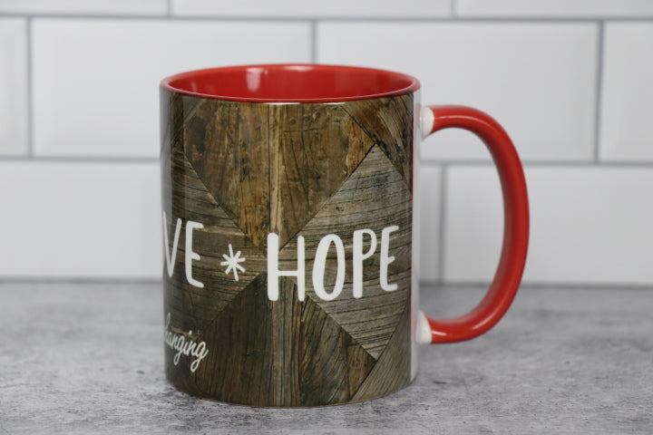 Coffee Mug - FAITH, LOVE, HOPE. . . Red
