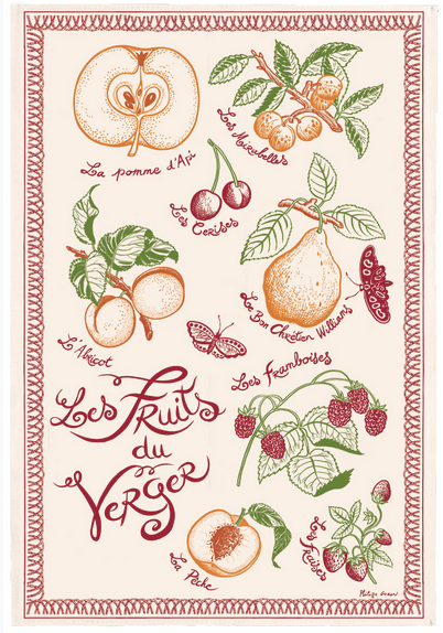 Kitchen Towel - (French Series) Vintage Orchard