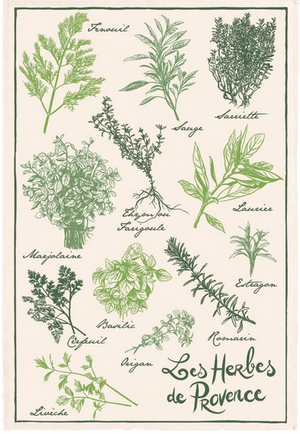 Kitchen Towel - (French Series) Vintage HERBES