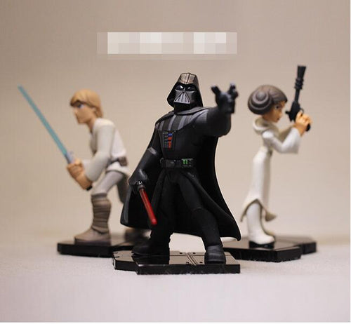 Star Wars, Darth Vader e Luke Skywalker (Colecionáveis) 8-10cm