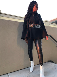 Black Cape Jacket - Klassy Kloset Boutique