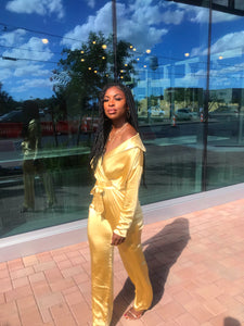 Liquid Gold | Jumpsuit - Klassy Kloset Boutique