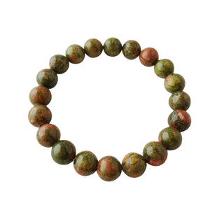 Balance Emotions ~ 8mm Unakite Bracelet - Hippie Love Bracelets