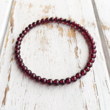 Power & Money ~ 4mm Garnet Bracelet - Hippie Love Bracelets