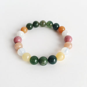 Brand New Start Mix ~ 8mm Genuine Gemstone Mix - Hippie Love Bracelets