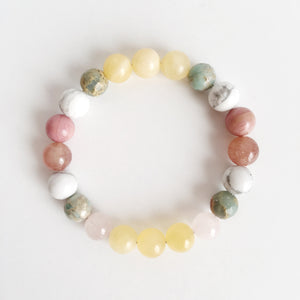 Balancing Love Mix ~ 8mm Genuine Gemstone Mix Bracelet - Hippie Love Bracelets