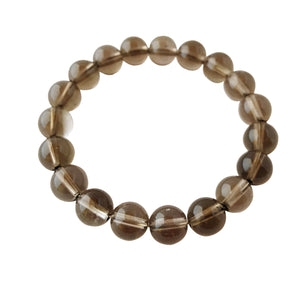 Rid Negative Energy ~ 6mm Smokey Quartz Bracelet - Hippie Love Bracelets