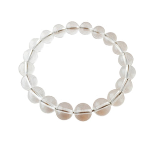 Energy & Intention ~ 8mm Crystal Quartz Bracelet - Hippie Love Bracelets