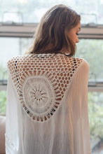 White Medallion Kimono with Armholes - Hippie Love Bracelets