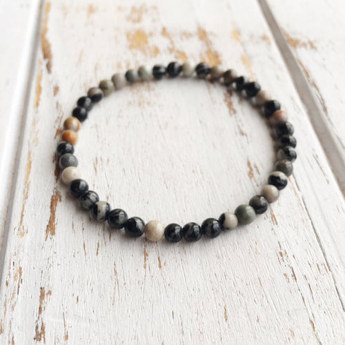 Stone of Joy ~ 4mm Ocean Jasper Bracelet - Hippie Love Bracelets