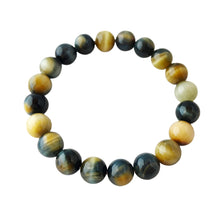Insight & Clear Thinking ~ 8mm Multi-Colored Tiger Eye Bracelet - Hippie Love Bracelets