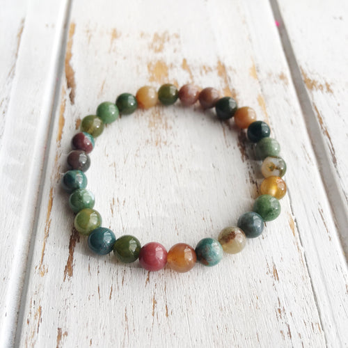 Wholeness & Healing ~ 8mm Fancy Jasper Bracelet - Hippie Love Bracelets