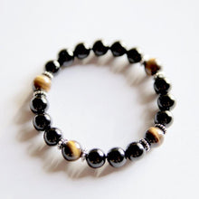 Genuine Black Onyx & Tiger's Eye Bracelet - Hippie Love Bracelets
