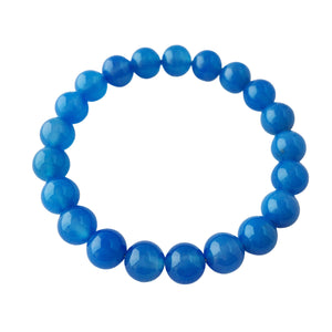 Energy Flow ~ 8mm Blue Agate Bracelet - Hippie Love Bracelets