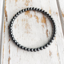 Balance and Harmonize ~ 4mm Hematite Bracelet - Hippie Love Bracelets
