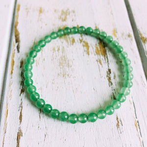 Success and Abundance ~ 4mm Green Aventurine Bracelet - Hippie Love Bracelets