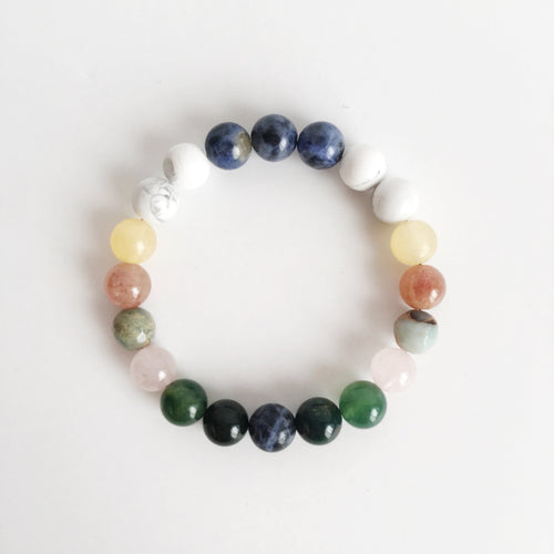 Courage & Confidence Mix ~ Genuine 8mm Gemstone Mix - Hippie Love Bracelets