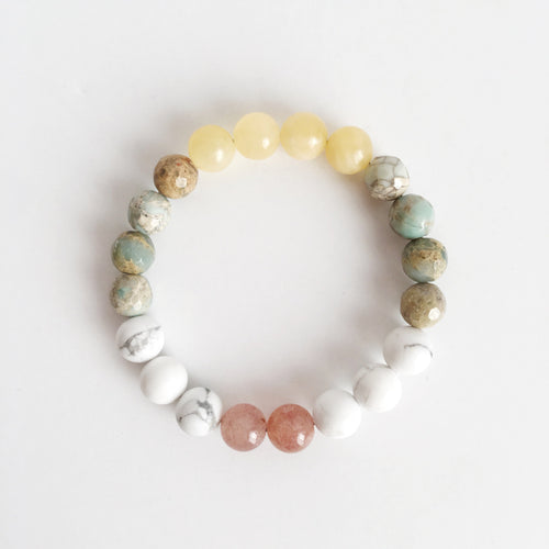 Balancing Energy Mix ~ 8mm Genuine Gemstone Mix - Hippie Love Bracelets