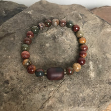 Red Creek Jasper Guru Bracelet - Hippie Love Bracelets