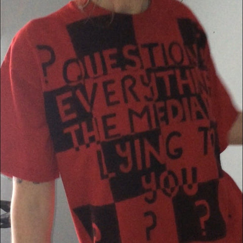 Question Everything Hand Painted Shirt