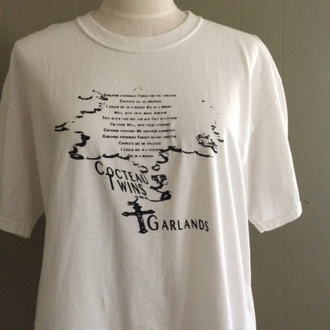 Cocteau Twins XL white vintage fruit of the loom tshirt