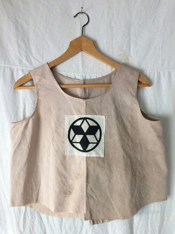 Naturally Dyed tank top with Patch