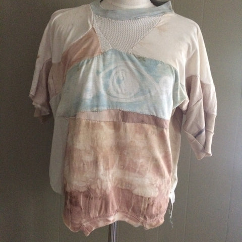 Patchwork Collage Shirt Naturally dyed Med/Large