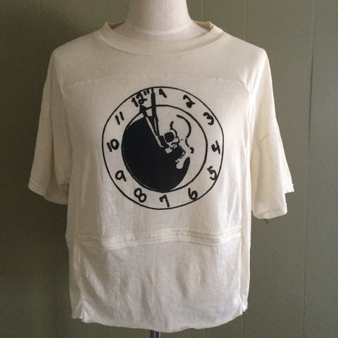 Dead Moon night Cropped 50/50 Vintage Tshirt Large