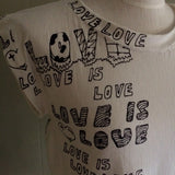 Love is Love handmade top