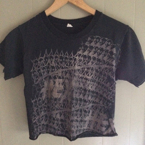 Cropped Poison Girls Black vintage tshirt