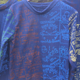 Printed Astro-Poem handmade long sleeve shirt Large Free Shipping