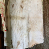 Naturally dyed off White Denim skirt size XL