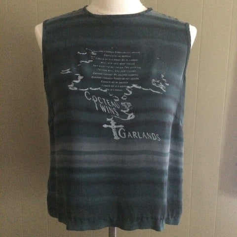 Cocteau Twins Silk Striped Blouse Large