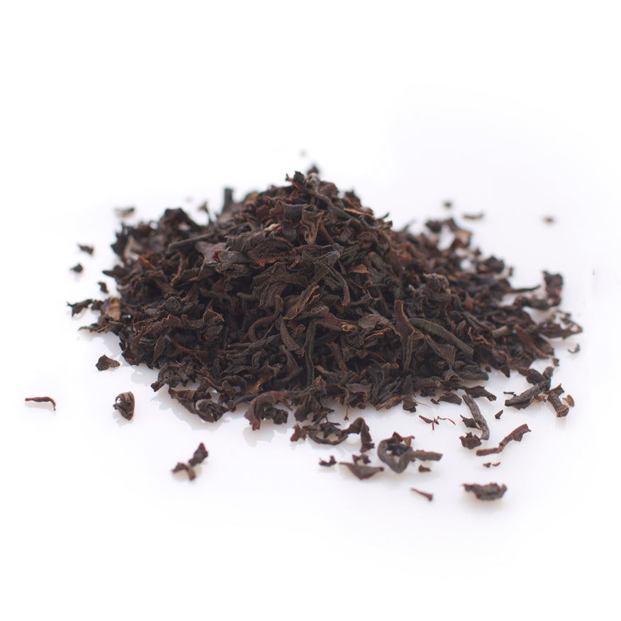 Black leaf tea: Flowery Orange Pekoe. Organic.
