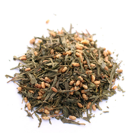 Organic Genmaicha. Japanese Green Tea with Brown Rice.