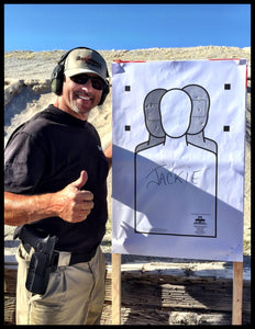 The Shooters Hangout ball cap. Handgun course at Front Sight Firearms Training Institute. Tee shirt. Targets.