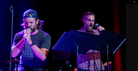 Jason Sudeikis and Will Forte at Thundergong! 2018