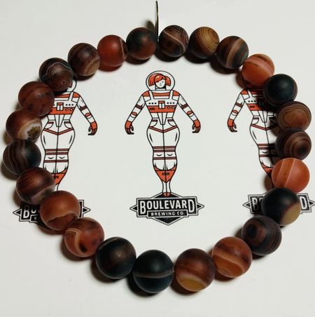 Life.Style. Beaded Bracelet - Space Camper - Red