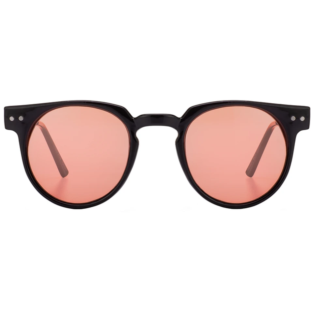 Spitfire - Teddy Boy Sunglasses - Black Frame, Rose Lens