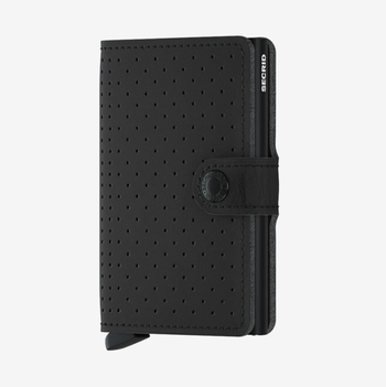SECRID Miniwallet - Perforated Black
