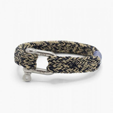 Pig & Hen - Gorgeous George Bracelet - Navy/Sand/Silver